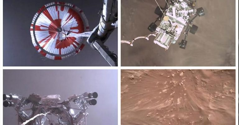 Video shows Perseverance rover's dramatic Mars landing